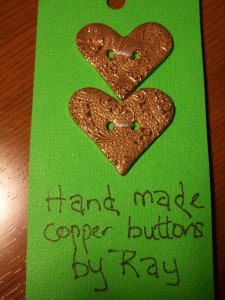 Copper Buttons by Ray