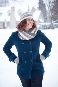 Every Which Way Cowl Hat and Fingerless Mitts set