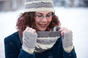 Every Which Way Cowl, Hat and Fingerless Mitts