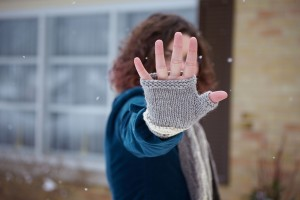 Every Which Way Fingerless Mitts Palm