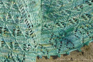 details of the picot edging on the Sargaco Shawl