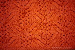 close up of Audrey II stitch pattern