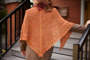 Back view of shawl