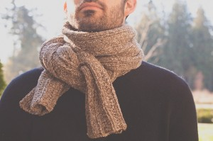 Backroad Scarf, Aran weight