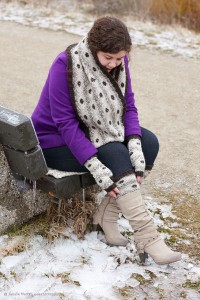Frost Boils Cowl, Boot Toppers and Fingerless Mitts