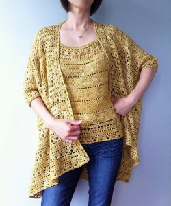 Arianne - two way floral lace cardigan and shell