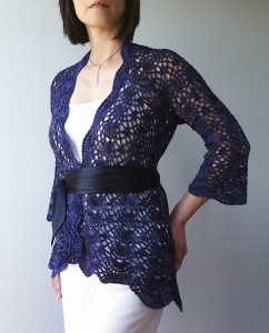 Ava - lacy shells cardigan
