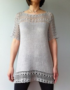 Julia - floral lace tunic