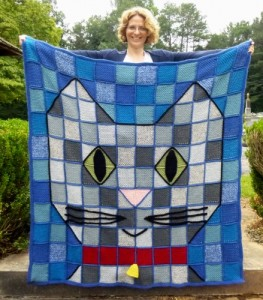 Patchwork Baby Kitty Throw