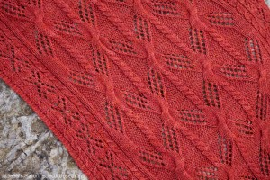Stitch detail of Blennerville Stole