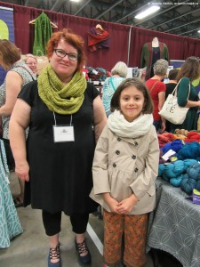 Kim and Miriam at KW Knitter's Fair