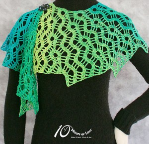 Lace Labyrinth Scarf by 10 Hours or Less