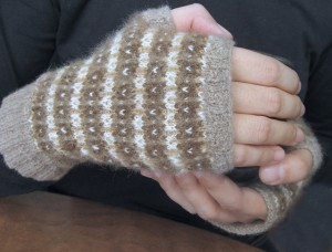 Clouds of Luxury Fingerless Gloves by Tabi Ferguson